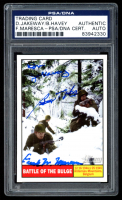Don Jakeway, Birney Havey & Frank Maresca Signed 2009 Topps American Heritage Heroes #120 Battle of The Bulge (PSA Encapsulated) at PristineAuction.com