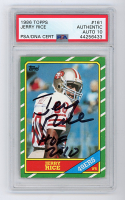 "Jerry Rice Signed 1986 Topps #161 RC Inscribed ""HOF 2010"" (PSA Encapsulated) at PristineAuction.com"