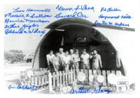509th Composite Group Military Police 5x7 Photo Signed by (12) with Maurice Sullions, Leonard Orr, Lester Andrews, Richard Wisher, Wernier Klina (JSA COA) at PristineAuction.com