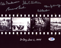"""D-Day"" 8x10 Photo Signed by (5) with Bernard Nolan, Don Jakeway, Peter Fanatacone, Bob Beaden, & John Bistrica (PSA LOA) at PristineAuction.com"