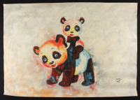 """Rodney Weng Signed """"Play Time"""" 25.5x35.75 Original Oil Panting on Linen (PA LOA) at PristineAuction.com"""