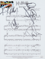 "Def Leppard ""Rocket"" 8.25x11 Sheet Music Band-Signed by (4) Joe Elliott, Rick Savage, Rick Allen, & Phil Collen (JSA COA) at PristineAuction.com"