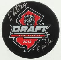 "Elias Lindholm Signed 2013 Draft Logo Hockey Puck Inscribed ""5 Pick"" (COJO COA) at PristineAuction.com"