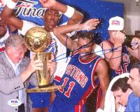 Isiah Thomas Signed Pistons 8x10 Photo (PSA COA) at PristineAuction.com