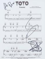 "Steve Lukather, Joseph Williams & Steve Porcaro Signed ""Pamela"" 8.5x11 Sheet Music Photo (JSA COA) at PristineAuction.com"