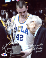 "John Wooden Signed UCLA Bruins 8x10 Photo Inscribed ""Best Wishes"" & ""UCLA"" (PSA COA) at PristineAuction.com"