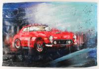 "Rodney Weng Signed ""Ferrari 250"" 25.25x36 Original Oil Panting on Linen (PA LOA) at PristineAuction.com"