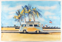 """Rodney Weng Signed """"Coast Line Drive"""" 25.25x37.25 Original Oil Panting on Linen (PA LOA) at PristineAuction.com"""