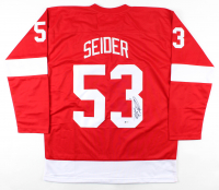 Moritz Seider Signed Jersey (Beckett COA) at PristineAuction.com