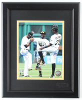Andrew McCutchen, Starling Marte & Gregory Polanco Signed Pirates 13x16 Custom Framed Photo Display (MLB Hologram) at PristineAuction.com