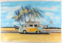 "Rodney Weng Signed ""Coast Line Drive"" 25.25x37.25 Original Oil Panting on Linen (PA LOA) at PristineAuction.com"
