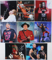 Lot of (8) Signed WWE 8x10 Photos With Jacques Rougeau, Bestia 666, Christopher Daniels, Frankie Kazarian (Leaf Authentic) at PristineAuction.com