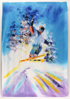 """Rodney Weng Signed """"Downhill Adventure"""" 25x35.25 Original Oil Panting on Linen (PA LOA) at PristineAuction.com"""