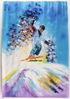 "Rodney Weng Signed ""Downhill Adventure"" 25x35.25 Original Oil Panting on Linen (PA LOA) at PristineAuction.com"