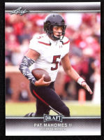 Pat Mahomes II 2017 Leaf Draft #56 at PristineAuction.com
