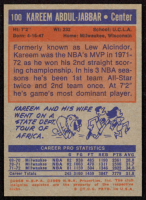 Kareem Abdul-Jabbar 1972-73 Topps #100 at PristineAuction.com