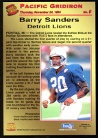 Barry Sanders 1995 Pacific Gridiron #9 at PristineAuction.com
