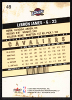 LeBron James 2004-05 Fleer Authentix #49 at PristineAuction.com