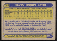 Barry Bonds 1987 Topps #320 RC at PristineAuction.com