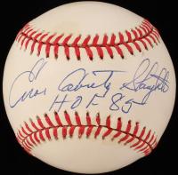 "Enos ""Country"" Slaughter Signed ONL Baseball Inscribed ""HOF 85"" (JSA COA) at PristineAuction.com"