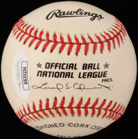 "Enos ""Country"" Slaughter Signed ONL Baseball Inscribed ""HOF 85"" (JSA COA) at PristineAuction.com"
