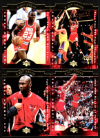 Lot of (4) Michael Jordan 1996-97 Collector's Choice Jordan A Cut Above Basketball Cards With #CA1, #CA5, #CA6, #CA8 at PristineAuction.com