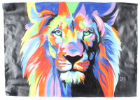 """Rodney Weng Signed """"Peaceful Warrior"""" 26x36 Original Oil Painting on Linen (PA LOA) at PristineAuction.com"""