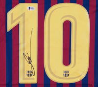 Lionel Messi Signed Barcelona Jersey (Beckett COA) at PristineAuction.com