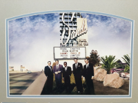 """The Rat Pack"" 24x28 Custom Framed Cut Display Signed by (5) with Joey Bishop, Frank Sinatra, Sammy Davis Jr., Peter Lawford & Dean Martin (JSA LOA & PSA COA) at PristineAuction.com"