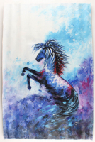 "Rodney Weng Signed ""Perfect Stride"" 25x37 Original Oil Panting on Linen (PA LOA) at PristineAuction.com"