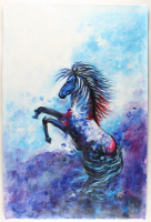 "Rodney Weng Signed ""Perfect Stride"" 25.25x37.5 Original Oil Panting on Linen (PA LOA) at PristineAuction.com"