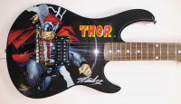 "Stan Lee & Chris Hemsworth Signed ""Thor"" Electric Guitar Inscribed ""Thor"" (Lee Hologram & Official Pix Hologram) at PristineAuction.com"