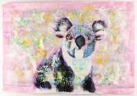 "Rodney Weng Signed ""Cuddly Koala"" 25.75x36.25 Original Oil Panting on Linen (PA LOA) at PristineAuction.com"