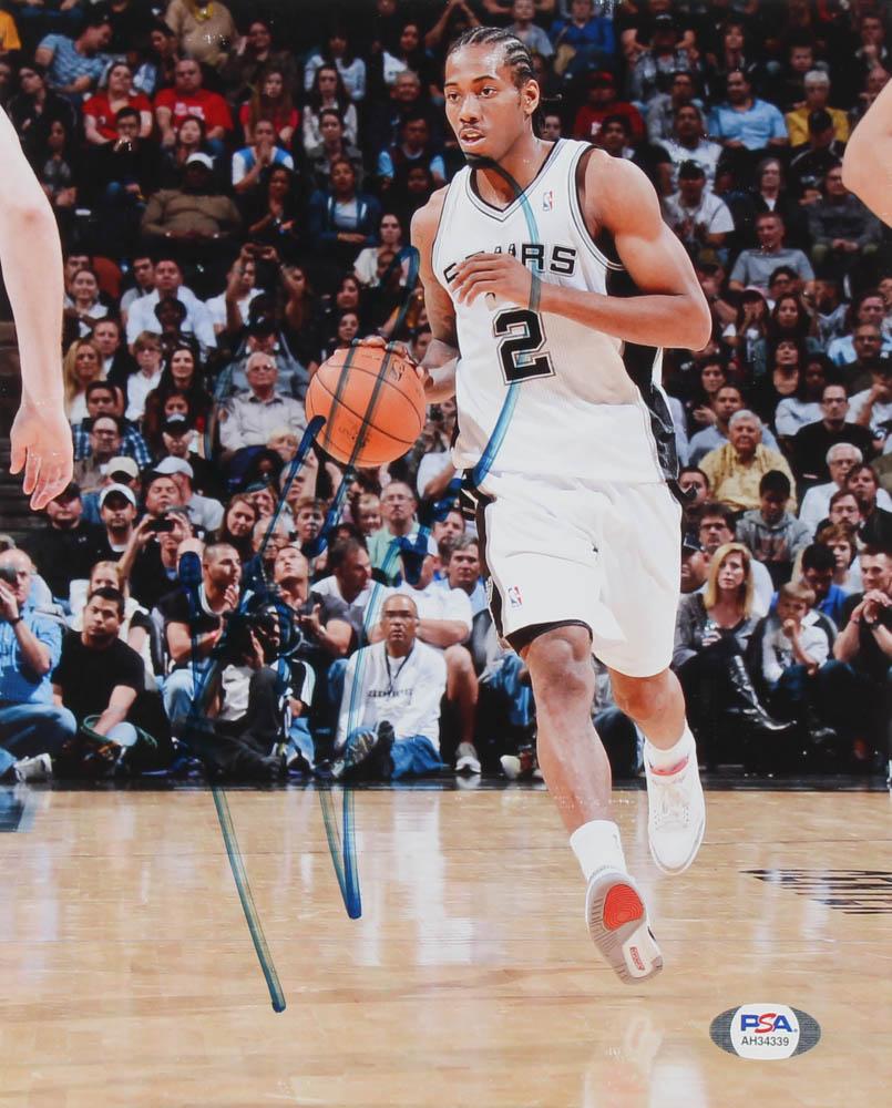 Kawhi Leonard Signed Spurs 8x10 Photo (PSA Hologram) at PristineAuction.com