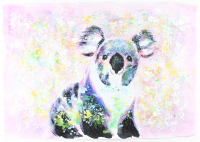 "Rodney Weng Signed ""Cuddly Koala"" 25.5x36.5 Original Oil Painting on Linen (PA LOA) at PristineAuction.com"
