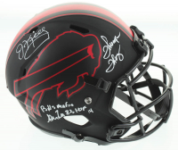 "Jim Kelly, Thurman Thomas & Andre Reed Signed Bills Eclipse Alternate Speed Full-Size Helmet Inscribed ""Bills Mafia"" & ""HOF 14"" (JSA COA) at PristineAuction.com"