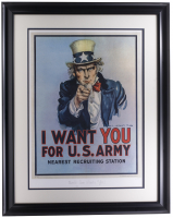 "Historical Photo Archive - ""Uncle Sam Wants You"" Limited Edition 16.5x22 Custom Framed Fine Art Giclee on Paper # / 375 (Historical Photo Archive LOA) at PristineAuction.com"