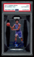 De'Aaron Fox Signed 2017-18 Panini Prizm #24 RC (PSA Encapsulated) at PristineAuction.com