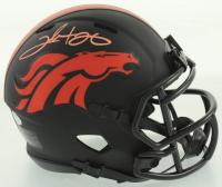 Clinton Portis Signed Broncos Eclipse Alternate Speed Mini Helmet (Schwartz COA) at PristineAuction.com