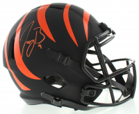 Joe Burrow Signed Bengals Eclipse Alternate Full-Size Speed Helmet (Fanatics Hologram) at PristineAuction.com