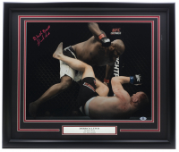 "Derrick Lewis Signed UFC 22x27 Custom Framed Photo Inscribed ""Black Beast"" (Beckett COA) at PristineAuction.com"