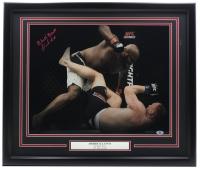 "Derrick Lewis Signed UFC 22x27 Custom Framed Photo Inscribed ""Black Beast"" (Beckett COA) at PristineAuction.com"