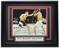"Max Holloway Signed UFC 11x14 Custom Framed Photo Display Inscribed ""Blessed"" (Beckett COA) at PristineAuction.com"