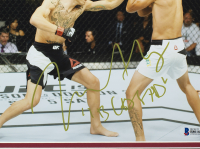 """Max Holloway Signed UFC 11x14 Custom Framed Photo Display Inscribed """"Blessed"""" (Beckett COA) at PristineAuction.com"""