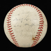 1937 Yankees OAL Baseball Signed by (20) with Lou Gehrig, Bill Dickey, Earle Combs, Tony Lazzeri, Red Ruffing (Beckett LOA) at PristineAuction.com