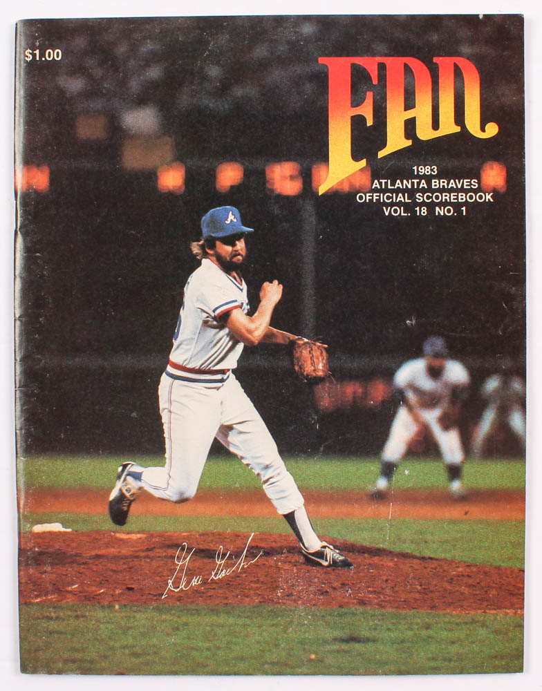 1983 Braves Official Score Book at PristineAuction.com