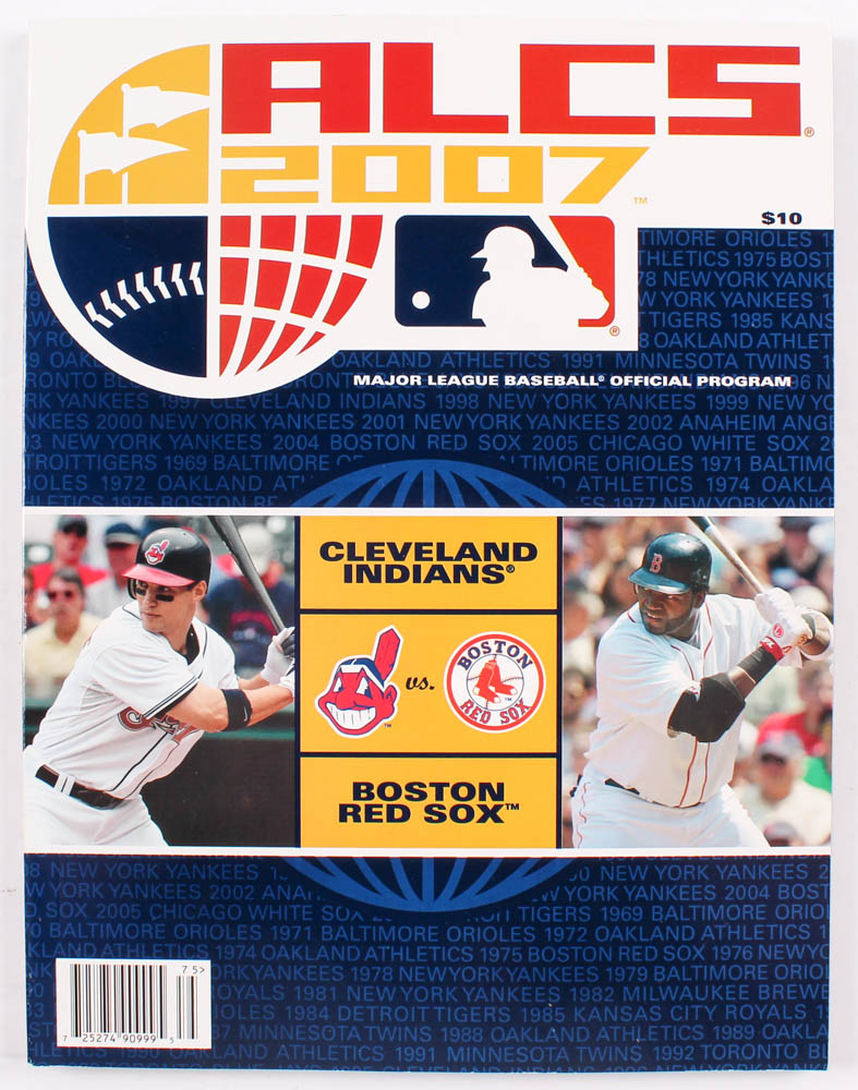 2007 Indians vs. Red Sox Official Program at PristineAuction.com