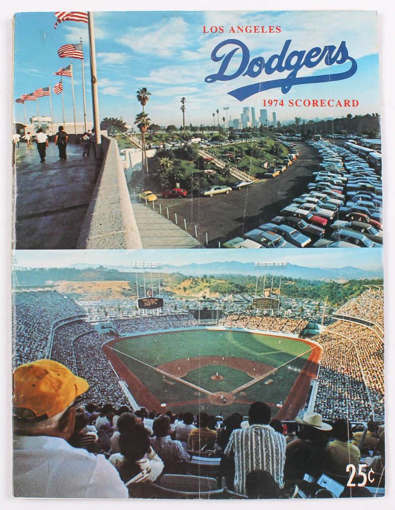 1974 Dodgers Scorecard at PristineAuction.com