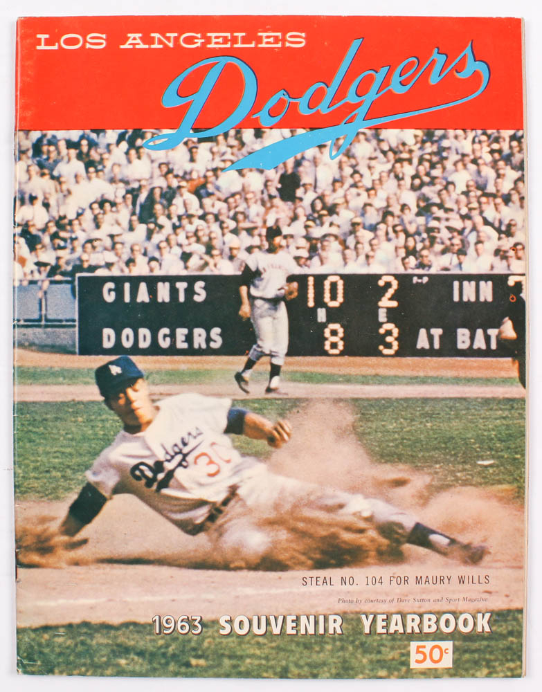 1963 Dodgers Souvenir Yearbook at PristineAuction.com