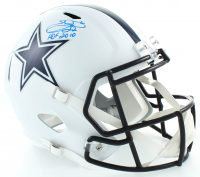 "Emmitt Smith Signed Cowboys Matte White Full-Size Speed Helmet Inscribed ""HOF 2010"" (Beckett COA) at PristineAuction.com"